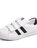 cheap -Girls' Shoes Cowhide Spring Comfort Sneakers for White / Black