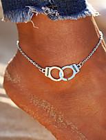 abordables -Forme de Lettres Bracelet de cheville - Femme Argent Décontracté / Bohème / Mode Forme Géométrique Bracelet de cheville Pour Bikini /