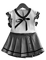 cheap -Kids Toddler Girls' Print Color Block Sleeveless Clothing Set