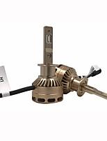 abordables -2pcs H9 / H3 / H11 Automatique Ampoules électriques 76W LED Intégrée 10000lm 2 LED Feu Antibrouillard For Universel Tous les modèles