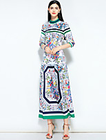 cheap -MARY YAN&YU Women's Vintage / Street chic Swing Dress - Floral Print