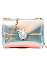 cheap -Women's Bags PU(Polyurethane) Shoulder Bag Buttons Rainbow