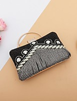 cheap -Women's Bags Rhinestones Evening Bag Crystals / Tassel for Event / Party Black / Silver / Red