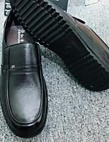 Недорогие -Муж. обувь Искусственное волокно Лето Удобная обувь Мокасины и Свитер для Офис и карьера Черный