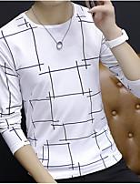 cheap -Men's Basic Sweatshirt - Solid Colored Plaid