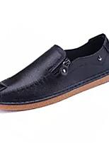 Недорогие -Муж. обувь Искусственное волокно / Полиуретан Осень Удобная обувь Мокасины и Свитер Белый / Черный / Оранжевый