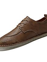 baratos -Homens sapatos Pele Napa Primavera Verão Conforto Oxfords para Ao ar livre Preto Castanho Claro Castanho Escuro
