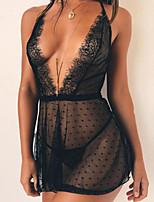 abordables -Nuisette & Culottes Vêtement de nuit Femme - Dentelle, Couleur Pleine
