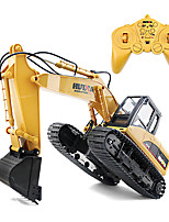 cheap -RC Car 1550 8CH 2.4G Excavator 1:14 Brush Electric 30 km/h KM/H