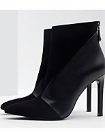 cheap -Women's Shoes Nappa Leather / Cowhide Fall / Winter Comfort / Bootie Boots Stiletto Heel Booties / Ankle Boots Black