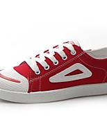 Недорогие -Жен. Обувь Полиуретан Осень Удобная обувь Кеды На плоской подошве Круглый носок Белый / Черный / Красный