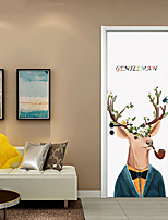 cheap -Decorative Wall Stickers Door Stickers - 3D Wall Stickers Animals 3D Living Room Bedroom Bathroom Kitchen Dining Room Study Room / Office