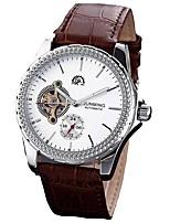 economico -Per uomo Orologio elegante Giapponese Cronografo Vera pelle Banda Creativo / Di tendenza Nero / Rosso