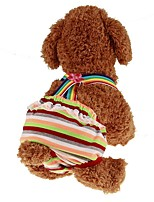 preiswerte -Haustiere Overall Hundekleidung Streifen / Prinzessin Regenbogen Gepolsterten Stoff Kostüm Für Haustiere Männlich Sport und Freizeit /