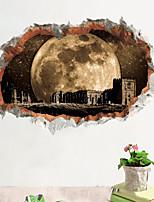 abordables -Calcomanías Decorativas de Pared - Calcomanías 3D para Pared Paisaje Sala de estar Dormitorio Baño Cocina Comedor Habitación de estudio /