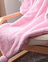 baratos -Velocino de Coral, Fios Tingidos Xadrez Fibras Acrilicas Poliéster / Poliamida cobertores