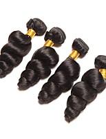 Недорогие -Индийские волосы Волнистый Ткет человеческих волос 4шт Горячая распродажа / Удлинитель Человека ткет Волосы / Накладки из натуральных