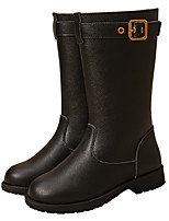 cheap -Girls' Shoes Cowhide Fall Winter Combat Boots Fashion Boots Boots for Casual Outdoor Black Coffee