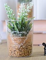 abordables -Fleurs artificielles 1 Une succursale Rustique Lavande Fleur de Table