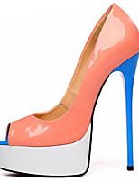 cheap -Women's Shoes PU(Polyurethane) Spring & Summer Basic Pump Heels Stiletto Heel Peep Toe Orange / Party & Evening / Party & Evening