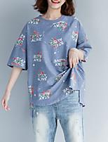 cheap -Women's Basic T-shirt - Floral / Letter Print