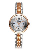 baratos -Mulheres Bracele Relógio Chinês Cronógrafo / imitação de diamante / Relógio Casual Lega Banda Luxo / Fashion Prata / Dourada