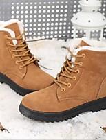 baratos -Mulheres Sapatos Tecido Inverno Conforto Botas Sem Salto Ponta Redonda Amarelo / Vermelho / Azul Real