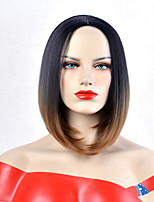 cheap -Synthetic Wig Wavy Bob Haircut / Pixie Cut / Short Bob Synthetic Hair Heat Resistant / Synthetic / New Arrival Ombre Wig Women's Short Capless / Yes