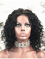 Недорогие -Remy Парик Бразильские волосы Кудрявый Короткий Боб 130% плотность Короткие Жен. Парики из натуральных волос на кружевной основе