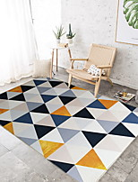 cheap -Area Rugs Casual / Modern Cotton / Polyester Blend, Rectangular Superior Quality Rug