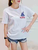 abordables -t-shirt pour femme - lettre animale col rond