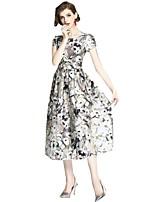 cheap -SHE IN SUN Women's Basic A Line Dress - Geometric Print
