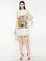 cheap -MARY YAN&YU Women's Cute Street chic A Line Dress - Floral Beaded