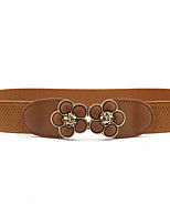 cheap -Women's Leather / Alloy Skinny Belt - Solid Colored