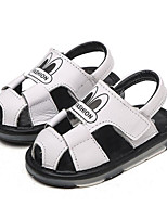 cheap -Girls' Shoes PU Summer Comfort Sandals for Outdoor White Black