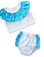 cheap -Toddler Girls' Boho Beach Color Block Ruffle / Patchwork Sleeveless Cotton / Rayon Swimwear