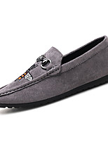 cheap -Men's Shoes Flocking Fall Moccasin Comfort Loafers & Slip-Ons for Outdoor Black Gray Red