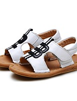 cheap -Boys' Shoes Leather Summer First Walkers / Flower Girl Shoes Sandals Magic Tape for Baby White / Black / Light Brown / Party & Evening