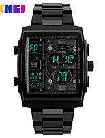 cheap -SKMEI Men's Digital Digital Watch Wrist Watch Calendar / date / day Chronograph Water Resistant / Water Proof Stopwatch Three Time Zones