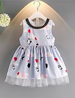 cheap -Toddler Girls' Patchwork Sleeveless Dress