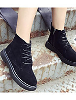 cheap -Women's Shoes PU(Polyurethane) Winter Combat Boots Boots Flat Heel Booties / Ankle Boots Black