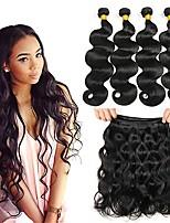 cheap -Peruvian Hair Body Wave Wavy Human Hair Weaves 50g x 4 Soft Romantic 100% Virgin High Quality Hot Sale Natural Color Hair Weaves Human
