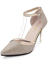 economico -Per donna Scarpe Sintetico / PU (Poliuretano) Estate Comoda Tacchi Footing A stiletto Appuntite Oro / Argento