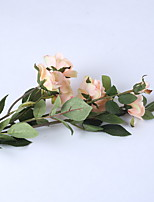 cheap -Artificial Flowers 1 Branch Rustic Tulips Floor Flower