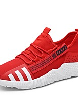 cheap -Men's Shoes Tulle Spring Comfort Sneakers White / Black / Red
