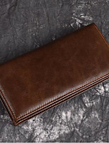cheap -Men's Bags Genuine Leather Wallet Zipper for Shopping Brown