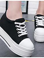 Недорогие -Жен. Обувь Полотно Весна Удобная обувь Кеды Микропоры Круглый носок Белый / Черный