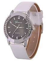 abordables -Mujer Reloj de Pulsera Chino Reloj Casual / La imitación de diamante / Esfera Grande PU Banda Vintage / Moda Negro / Blanco / Marrón
