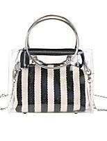 preiswerte -Damen Taschen PVC Bag Set Reißverschluss für Formal Blau / Schwarz / Rote