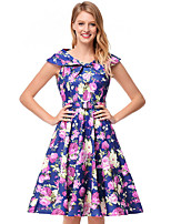 cheap -TS - Dreamy Land Women's Skater Dress - Floral V Neck